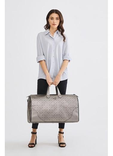 Deri Company Bavul Gümüş